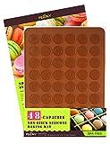 PERNY Macarons Silicone Mat, 48-cavity Macaron Mat