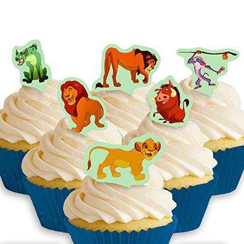 Cakeshop 12 x PRE-CUT Disney Lion King Stand