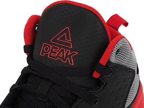 Peak - Thunder gold blau - Basketballschuhe Black / Grey / Red