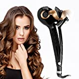 Diglot Automatic Hair Steam Curler Ceramic Curling Iron Professional Stylish Hair Curler Auto Steam Spray Hair Curlers Styling Curling Wands for Lovely & Charming style LED Digital Display Black