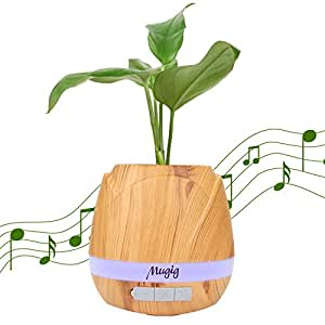 Mugig Bluetooth Musical Flower Pot, Smart Flower Pot, Bluetooth Speaker Music Player with Breathing Light , Playing Music by Touching Plants