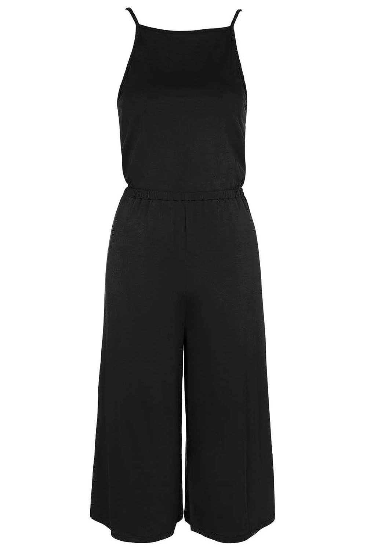 9ce8001904b7 Topshop Petite High Neck Culotte Jumpsuit Black UK 4  Amazon.co.uk  Clothing