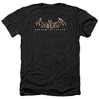 Trevco Men's Batman Arkham Asylum Short Sleeve T-Shirt, Heather Black, Medium