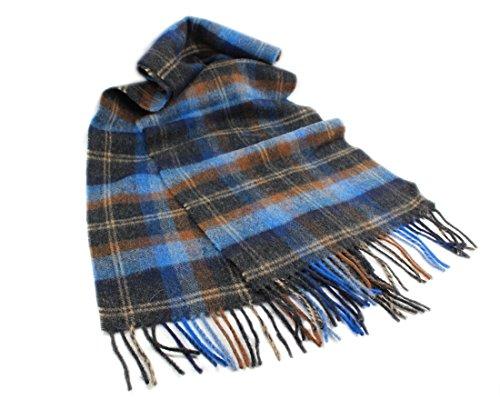 (Biddy Murphy Blue Plaid Scarf Wool Unisex 63