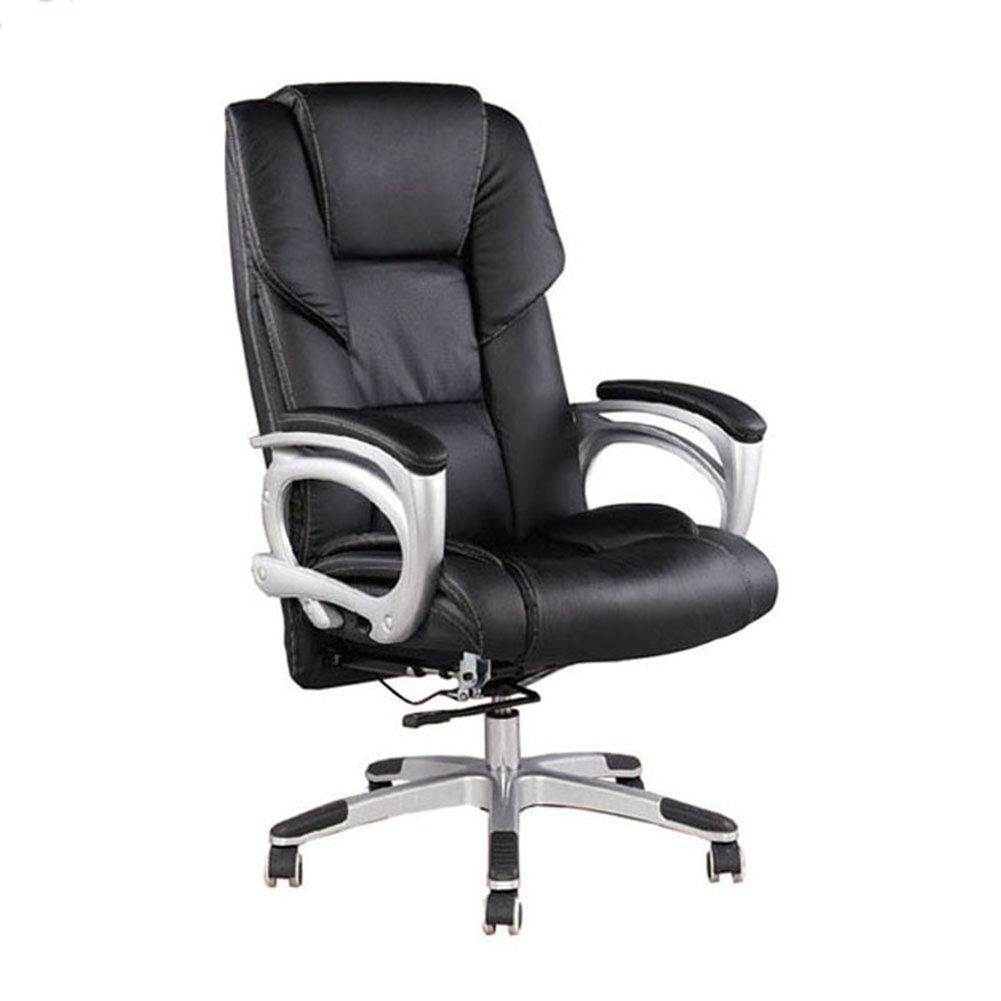 HTOLLA Drehbarer Bürostuhl Höhenverstellbar aus PU-Leder Executive Desk Chair Leisure Recliner