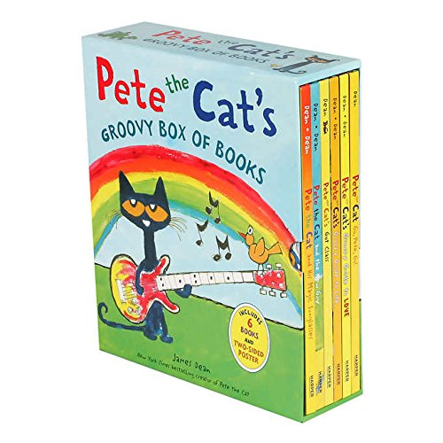 Pete the Cat's Groovy Box of Books: 6 Book Set by James Dean