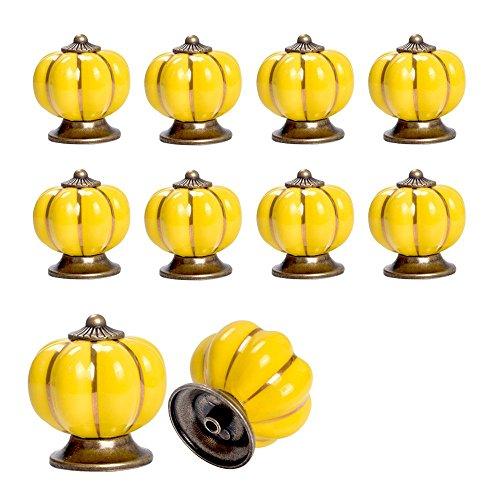 Yazer 10pcs Bronze Pumpkin Ceramic Drawe - Luxury Pull Shopping Results