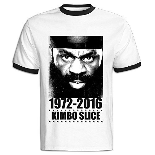 NEVA Mens Kimbo Slice Short Sleeve Ringer T Shirts (Brawlers Tee)