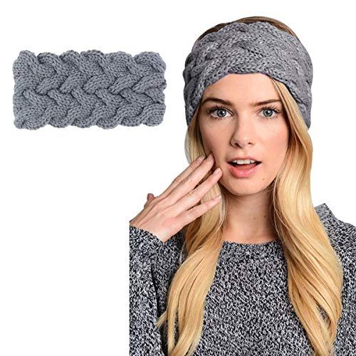 d0a1de2705e Womens Winter Knitted Headband - Crochet Knitted Turban Headwrap Twist Hair  Band Warm Crocheted Hairband Hat Cap Ear Warmer - Buy Online in UAE.