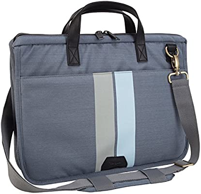 df2cec2528fd Targus Geo Slim 15.6-Inch Laptop Case with Handle and Shoulder Strap,  Gray/Black (TST59604)