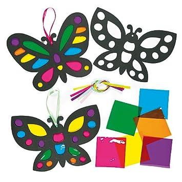 Deko Anhanger Schmetterlinge Mit Transparentpapier Fur Kinder
