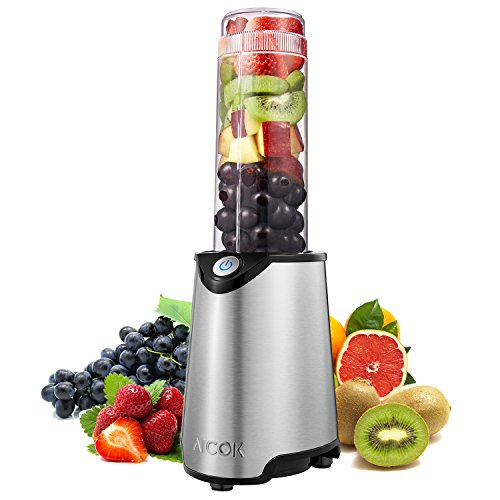 Aicok Personal Blender, Mini Smoothie Blender, Stainless Steel Single