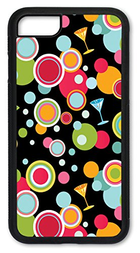 iPhone 7 PLUS Case, iPhone 8 PLUS Case, Slim Fit Shell Hard Plastic Full Protective Cover Case for Apple iPhone 7 PLUS / iPhone 8 PLUS - Martini Polka Dots (Dot Martini)