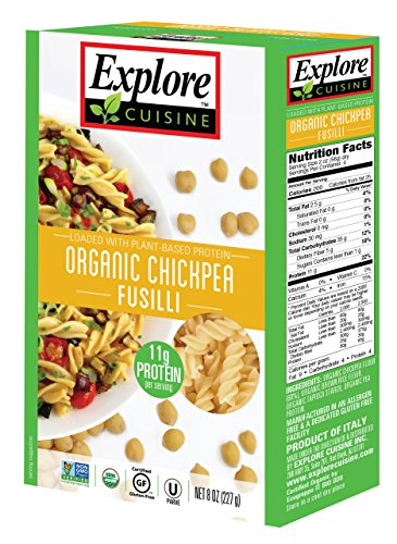 Explore Cuisine Pasta - Chickpea Fusilli - Pack of 6 Boxes