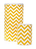 Glenna Jean Hamper and West Basket, Yellow Chevron