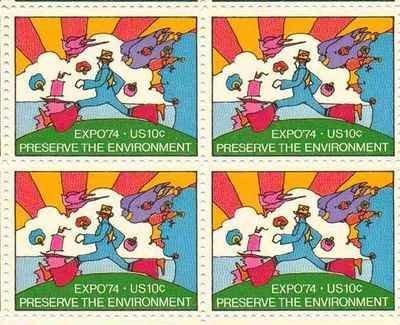 Expo 74 Preserve the Environment Set of 4 x 10 Cent US Postage Stamps Scot 1527 by USPS; US Post Office Dept; US - Usps Shop