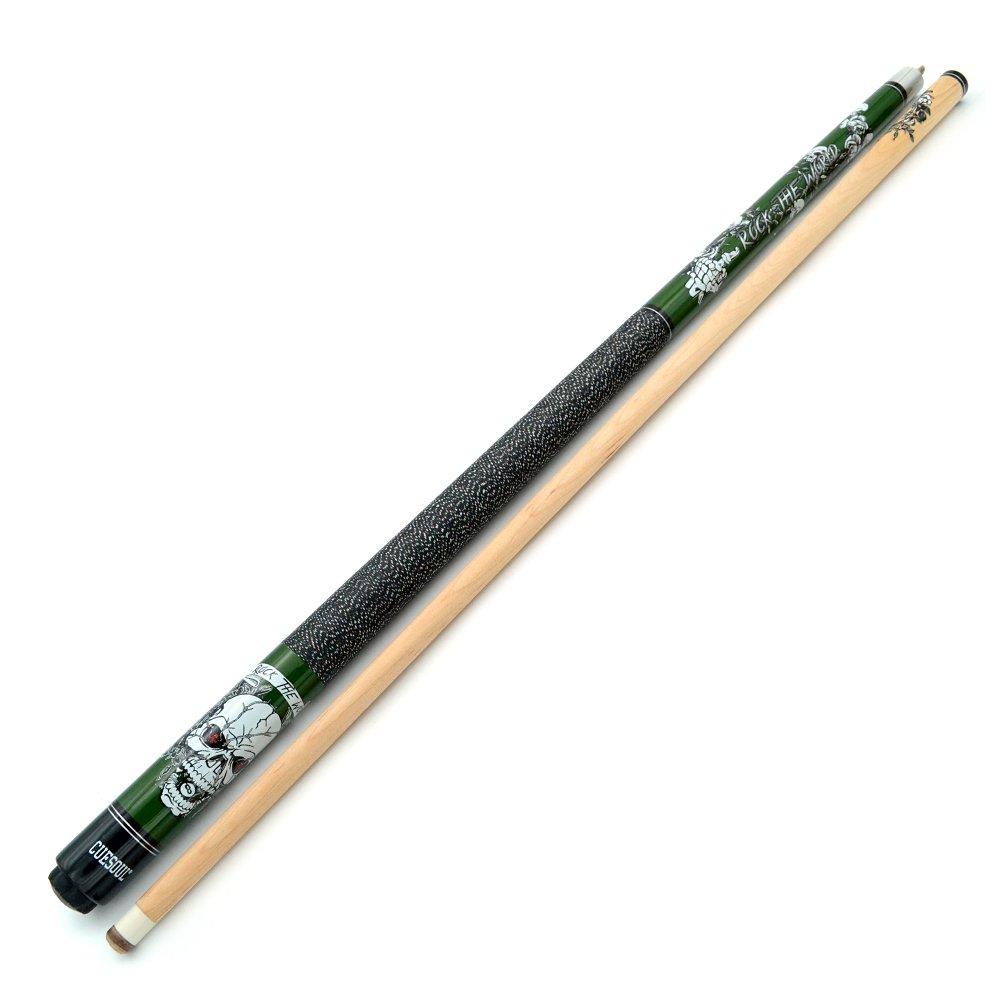 CUESOUL 57 inch 19//20//21 oz 1//2 Maple Pool Cue Stick Kit-Rockin Series
