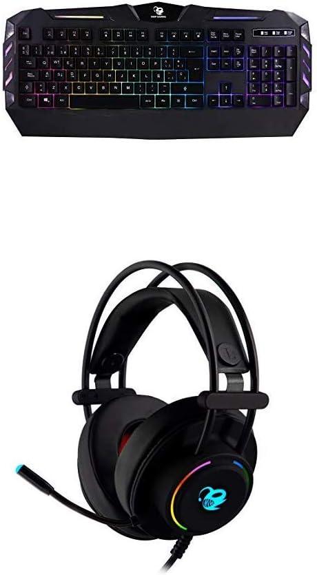 Teclado Gaming DeepColorKey + Auriculares Gaming DeepLighting ...