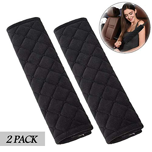 Seat Belt Pads Travel Cushion Car Seat Belt Cover (2 Pack) Lookka Comfort Car Harness Pads with Hook and Loop