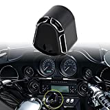 #1: TUINCYN Motorcycle Black Front Deep Cut Ignition Switch Cover Billet Aluminum for Harley FLHX/ FLHT/ FLTR/ FL Models Touring Trike Street Road Glide (2014-2017) Hardware Kit