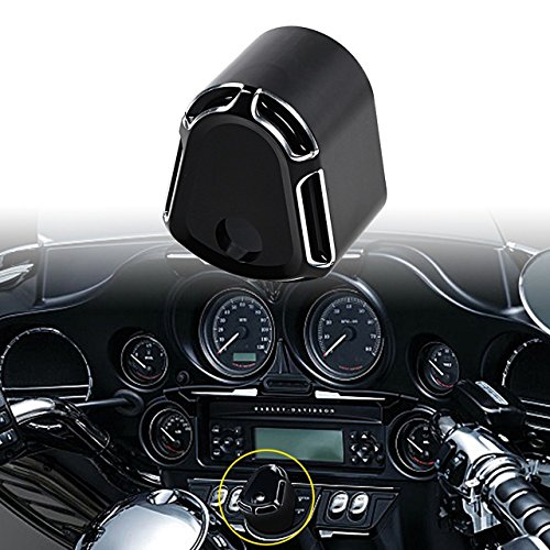 - KaTur Black Billet Aluminum CNC Deep Cut Ignition Switch Cover for Harley Touring Street Road Glide 2007-2013