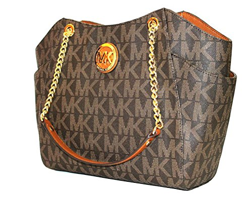 MICHAEL Michael Kors women's Jet set Travel large chain shoulder tote handbag by Michael Kors