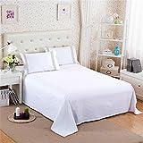 Yescom 4Pcs King Bedding Sheet Set Microfiber Flat Fitted Sheet Pillow Shams Wrinkle Fade Resistant White Home
