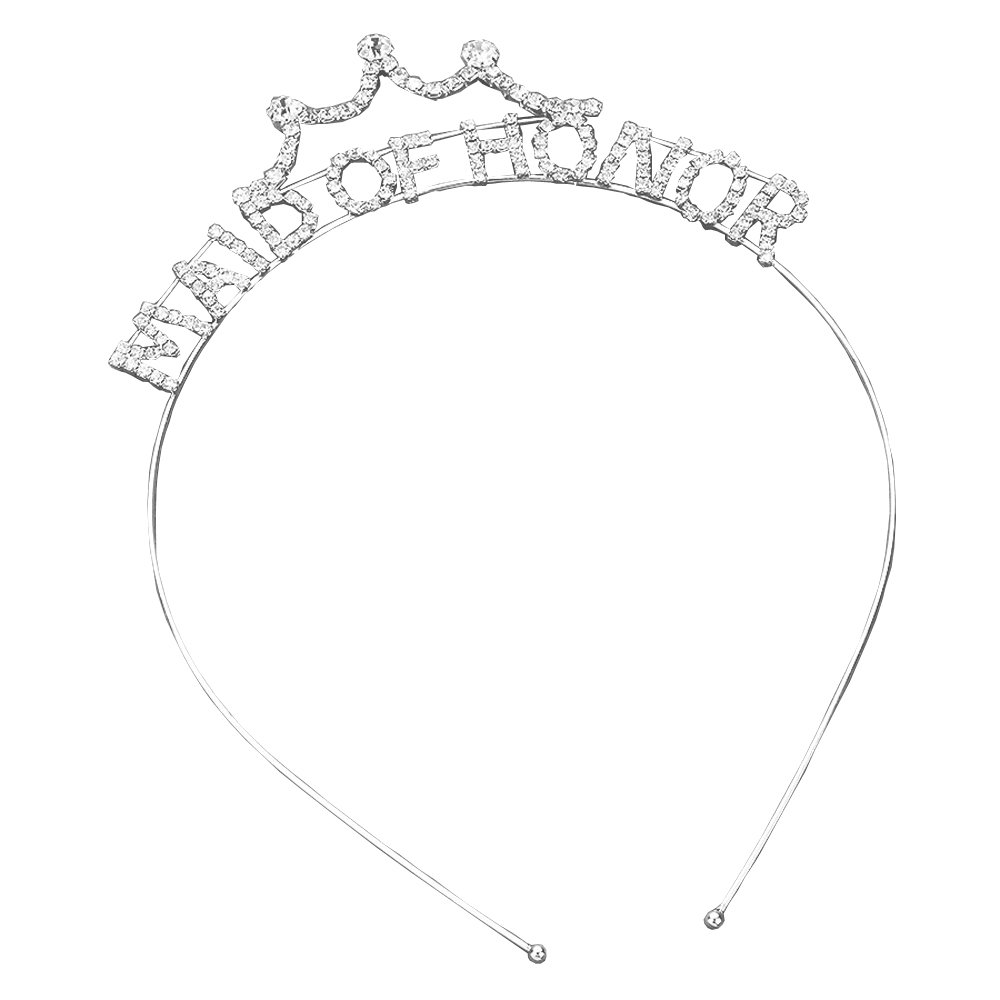 Rosemarie Collections Women's Bachelorette Party Tiara Headband (Maid Of Honor)