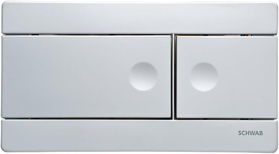 Schwab by Fluidmaster Wall Hung Cistern Line Matt Chrome Flush Button Plate