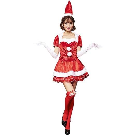 VDGHA Niñas Señorita Traje de Elfo de Navidad Mujeres de la ...