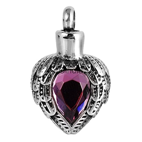 Armyshop Heart Shape Urn Necklace Pendant Memorial Ash Keepsake Cremation Jewelry