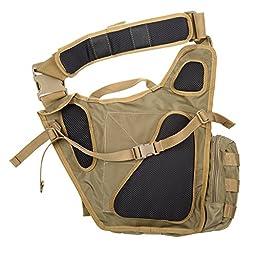 Magforce Saddle Sling Bag, Kahki