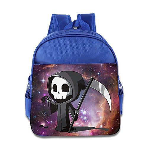 Cute Grim Reaper Kids Backpack School Bag For Boys/girls RoyalBlue
