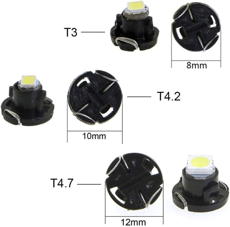 BlyilyB 10-Pack White T5 T4.7 Wedge Cluster Panel LED Light Replacement Compatiable To Dodge RAM 1500 2500 3500 2001-2011