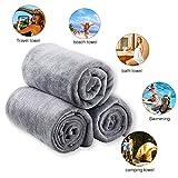 "JML Microfiber Bath Towels, Bath Towel 3 Pack(27"" x 55""), Soft, Super Absorbent and Fast Drying, Microfiber Towels for Sports, Travel, Fitness, Yoga - Grey"