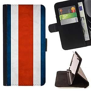 KingStore / Leather Etui en cuir / Samsung Galaxy S5 Mini, SM-G800 / Nación Bandera Nacional País Costa Rica