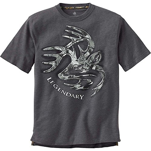 Legendary Whitetails Men's Signature Series T-Shirt Charcoal Heather X-Large Tall