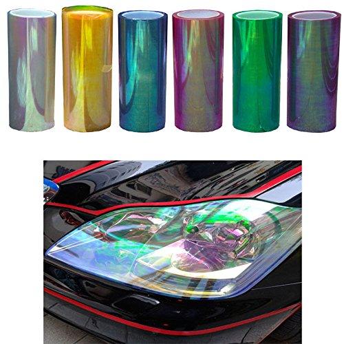 Merssavo Merssavo 120*30cm Wasserdicht Auto Scheinwerfer Folie T/önungsfolie f/ür KFZ Scheinwerfer R/ückleuchten Nebelscheinwerfer Transparente