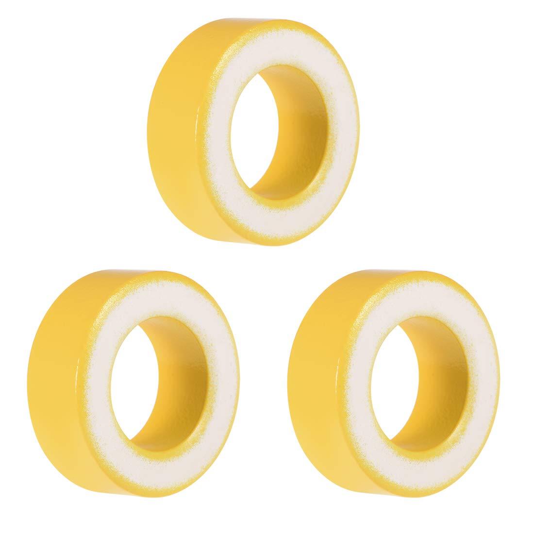 uxcell 3pcs 24 x 40.3 x 15mm Ferrite Ring Iron Powder Toroid Cores Yellow White