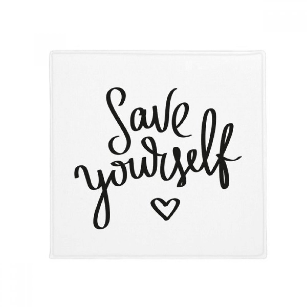 DIYthinker Save Yourself Quote Anti-Slip Floor Pet Mat Square Home Kitchen Door 80Cm Gift