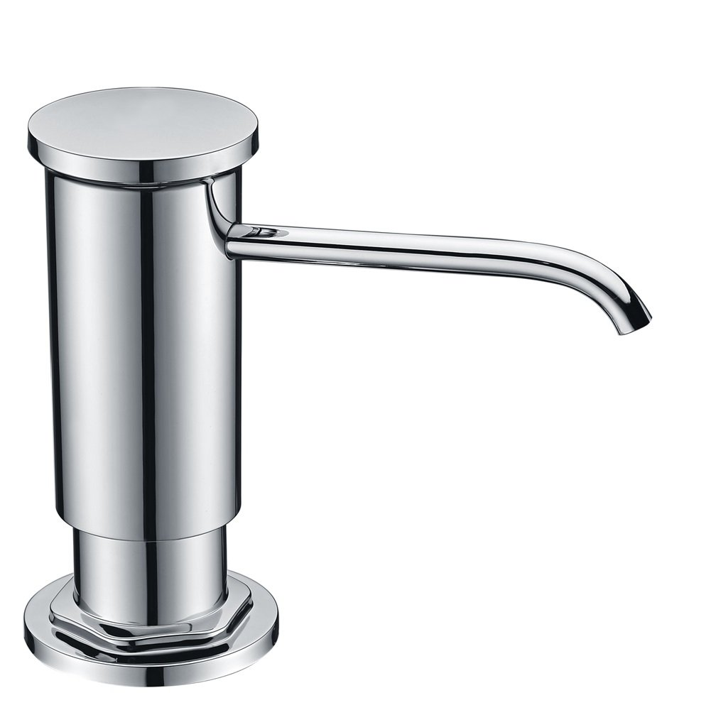 Chrome Sink Soap Dispenser with Lead Free ABS Plastic Pump Delle Rosa PET Bottle and Brass Sprayer Soap Pump