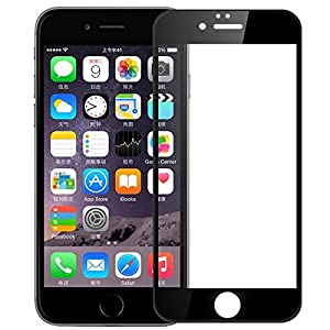 iPhone 7 Plus Full Cover Screen Protector , Akwox 3D Curved Edge High Definition Round Angle Crystal Clear High Response Hard Tempered Glass Protective Film for iPhone 7 Plus from Akwox