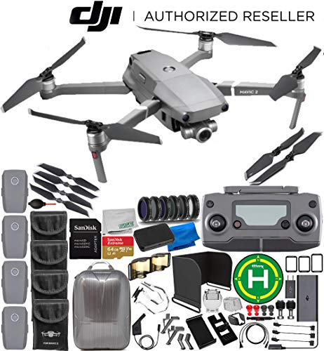 DJI Mavic 2 Zoom Drone Quadcopter with 24-48mm Optical Zoom Camera 4-Battery 64GB Ultimate Bundle from DJI