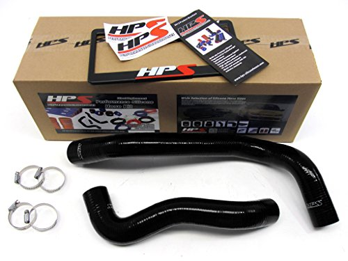HPS 57-1074-BLK-2 Black Silicone Radiator Coolant Hose Kit