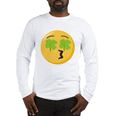 651be642 Image Unavailable. Image not available for. Color: CafePress Kissing Face  Shamrock Long Sleeve T Shirt ...