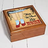 Personalised Theres No Place Like Home Oz Dorothy Nc702 Wizard of OZ Wooden Trinket Box Keepsake Jewellery Accessory Storage Gift by Krafty Gifts