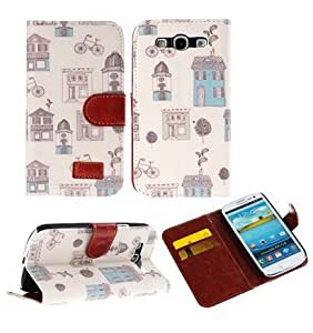 Leather case for S3,Leather case for Galaxy s3 i9300,s3 leather case, case for samsung s3,s3 case,Ezydigital Carryberry PU Leather Wallet Flip Cover Case for Samsung Galaxy S3 I9300
