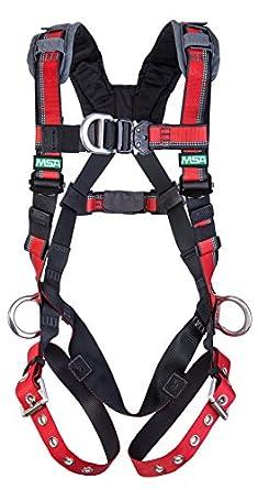 MSA Safety Evotech arnés con espalda, la cadera y pecho anillas en ...