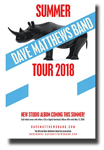 - Dave Matthews Band Poster Concert Tour Promo 11 x 17 inches 2018
