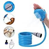 Pet Bathing Tool - Pro Pet Shower Sprayer for Massage with 7.5 Foot Hose and 2 Hose Adapters - Indoor-Outdoor Use - Dog Cat Horse Grooming